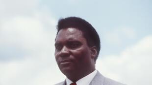 Rais wa zamani wa Rwanda Juvénal Habyarimana (hapa ilikuwa mwaka 1982).