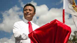 Marc Ravalomanana s'exprime devant ses partisans lors d'un meeting, au stade Mahamasina, à Antananarivo, en août 2018 (photo d'illustration).