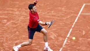 Novak Djokovic at Roland Garros on 2 June 2016
