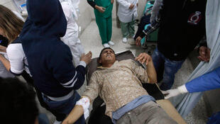 A man injured in the Benghazi blasts