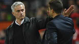 Old friends: Jose Mourinho and Mauricio Pochettino