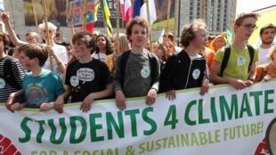 Cuộc tuần hành của giới trẻ vì khí hậu toàn cầu tại Bruxelles, Bỉ, ngày 24/05/2019.