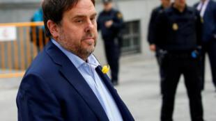 Chegada ao Supremo Tribunal da Espanha em Madri do vice-presidente catalão, Oriol Junqueras. 02/11/18