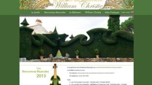 Capture d'écran du site internet des jardins de William Christie.