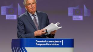 Michel Barnier le 24 avril 2020 à Bruxelles.