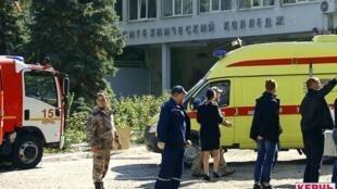 克里米亚刻赤一所理工技校发生爆炸事件  已知19人死亡      2018年10月17日