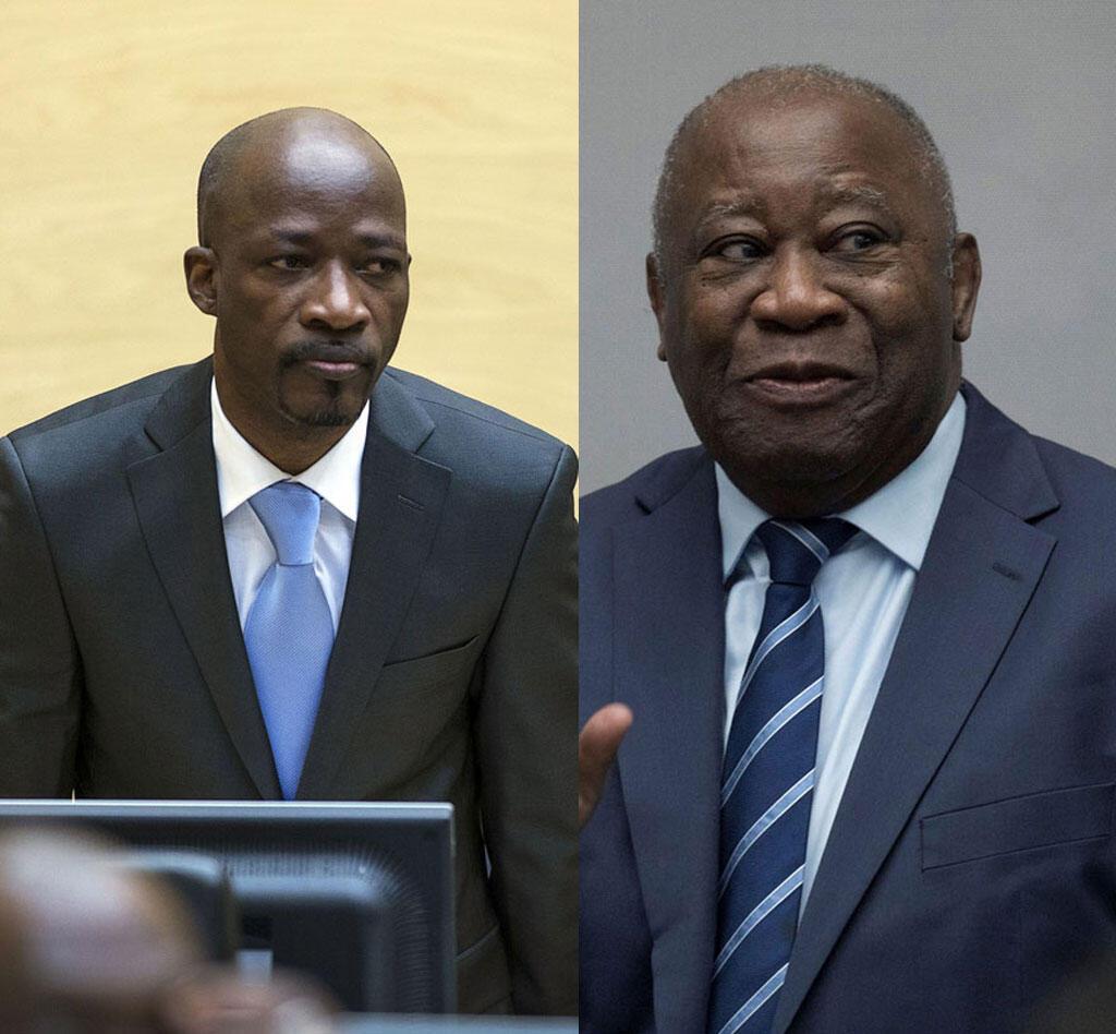 Charles Blé Goudé (g) et Laurent Gbagbo (d)