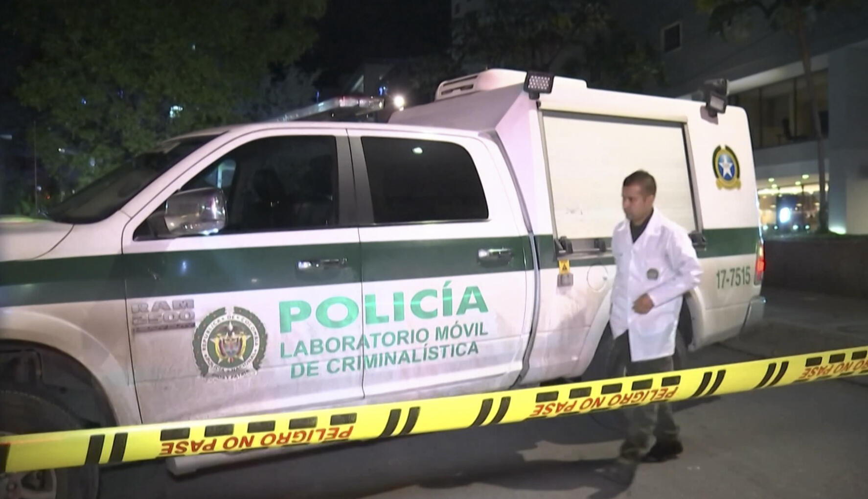 Colombian police said the shooting in Bogota bore the hallmarks of a contract killing.