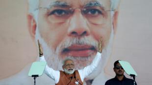 Narendra Modi durante un miting en Meerut, estado de Uttar Pradesh, al norte de India, el 28 de marzo 2019.