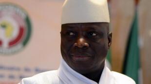Le président gambien Yaya Jammeh, lors d'un sommet de la Cédéao, le 28 mars 2014.
