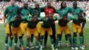 Baadhi ya wachezaji wa timu ya taifa ya Afrika Kusini, Bafana Bafana