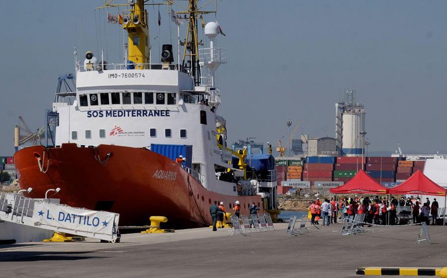 《水瓶座号》救援船 2018年6月17日 西班牙 瓦伦西亚港