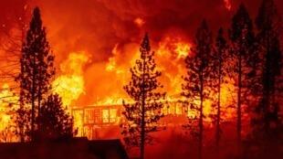 El incendio Creek, en California, comenzó hace cuatro días y ya consumió 66.000 hectáreas