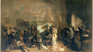 Gustave Courbet's The artist's studio, one of the masterpieces in the Musée d'Orsay's collection