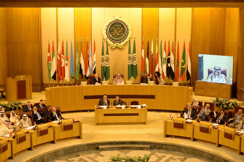 Les ministres arabes des Affaires étrangères de la Ligue arabe réunis au Caire, en mai 2018.