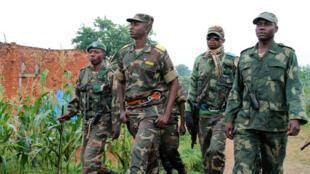 Le colonel Mamadou Ndala, lors d'une patrouille à Kokola, en RDC, le 31 décembre 2013.