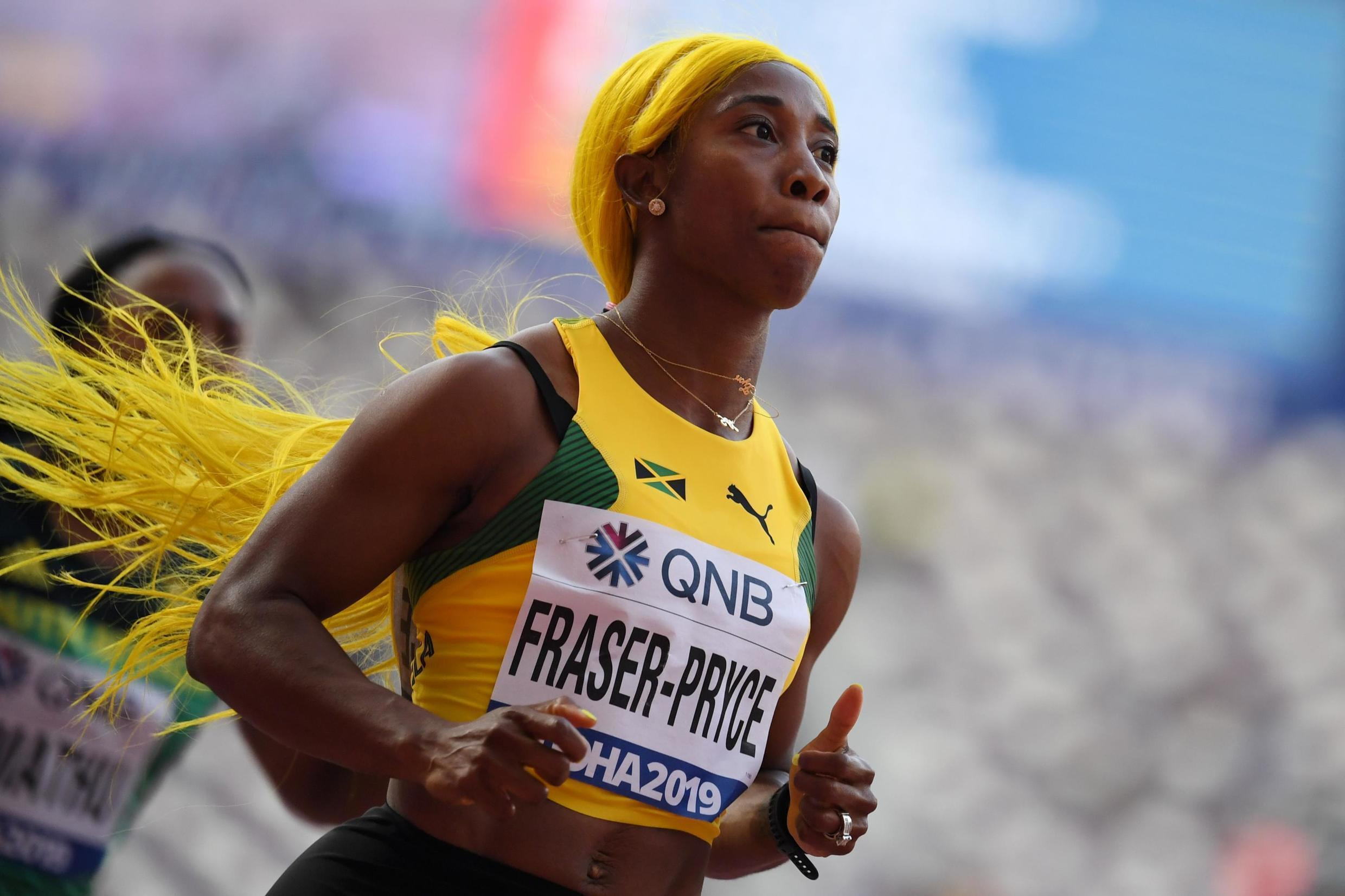 Shelly-Ann Fraser-Pryce ran the season's best time to win the gold medal in the 100 metres.