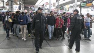 德國慕尼黑車站的移民