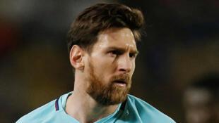Lionel Messi (Barcelone), le 1er mars 2018, lors du match contre Las Palmas.
