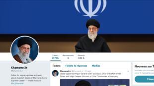 Capture d'écran du compte Twitter du guide suprême Ali Khamenei