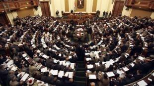 Session du Parlement égyptien au Caire le 26 février 2012.