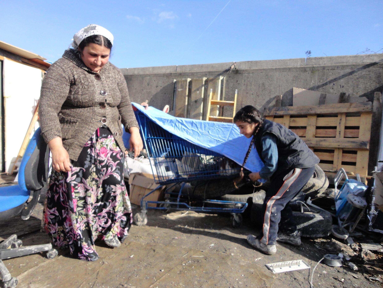 Campement de Roms
