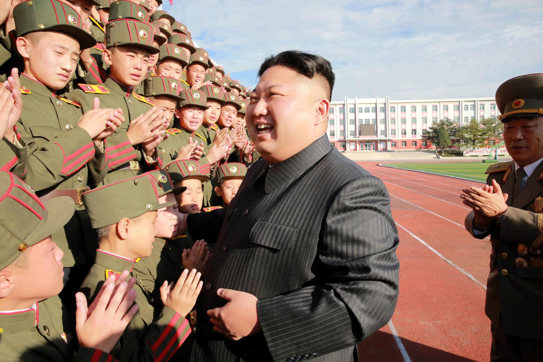 Северокорейский лидер Ким Чен Ын. 13 октября 2017