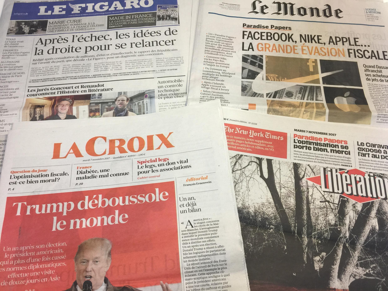 Diários franceses de 07/11/2017