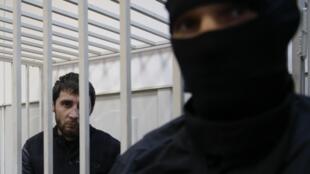 Zaour Dadaïev na prisão de Lefortovo, em Moscou.