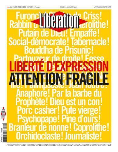 Capa do jornal frances Liberation desta quinta-feira (15).