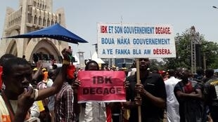 Manifestation de l'opposition à Bamako, au Mali, le 19 juin 2020. (Image d'illustration)