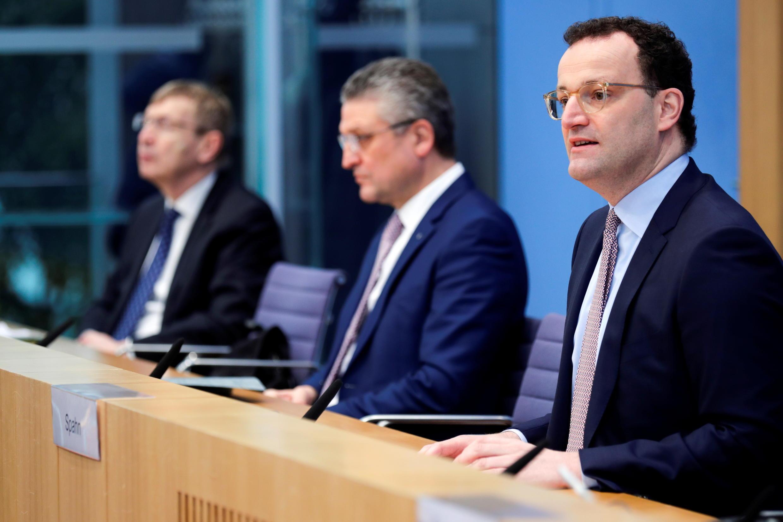 Bộ trưởng Y Tế Đức, Jens Spahn, phát biểu trong một cuộc họp báo tại Berlin, ngày 29/01/2021.