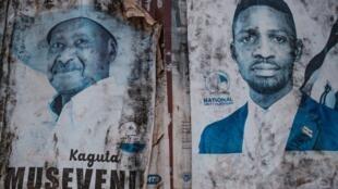 Le président sortant Yoweri Museveni fait notamment face au chanteur et député Bobi Wine lors des élections de ce 14 janvier.