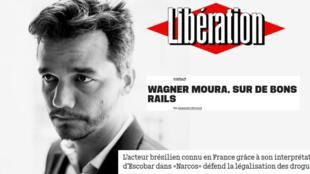 Perfil do ator brasileiro Wagner Moura no jonal Libération.