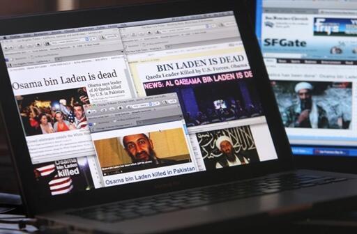 La mort d'Oussama ben Laden a rapidement fait la Une des médias.