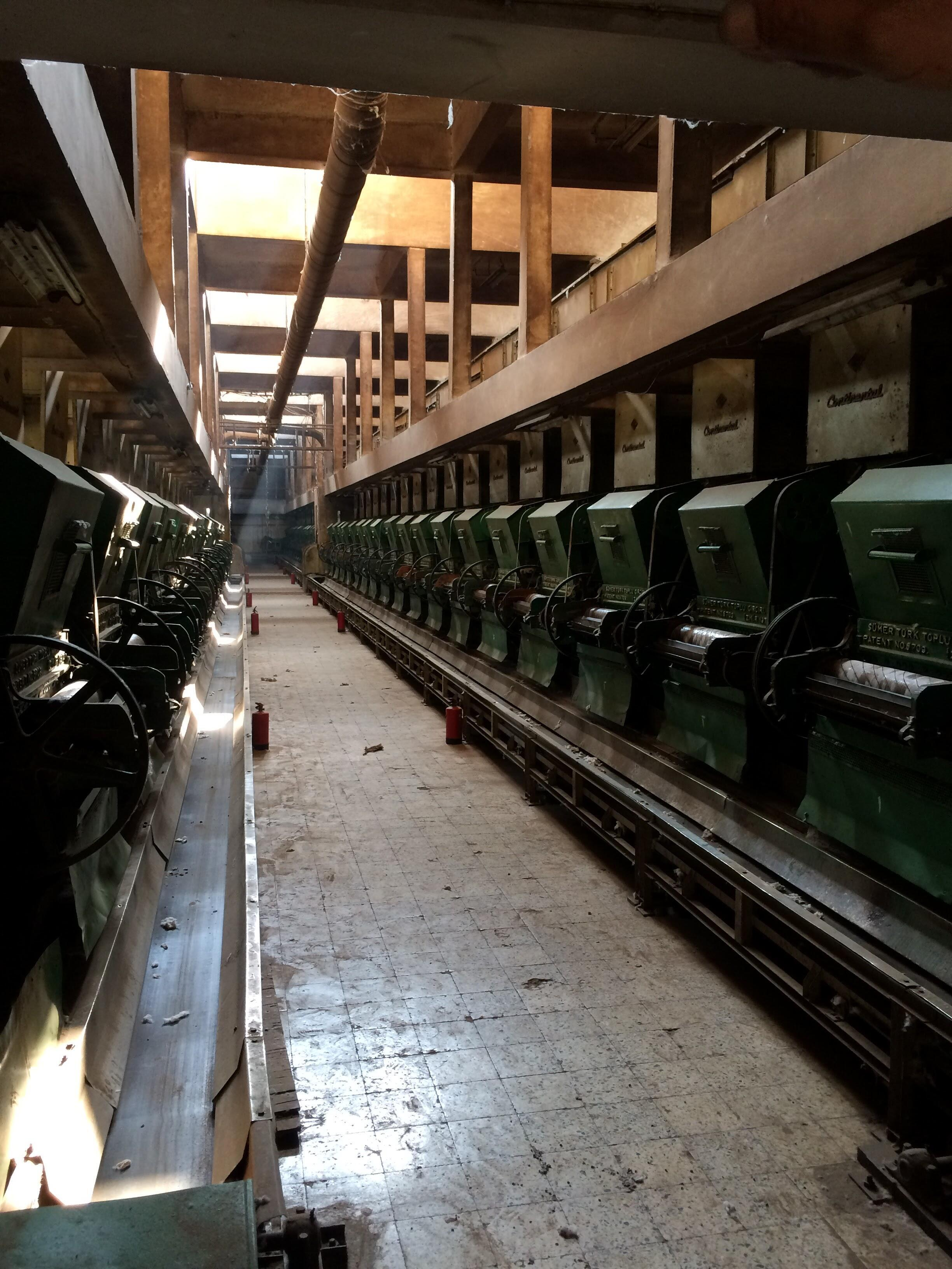 Inside the cotton factory in Zagazig