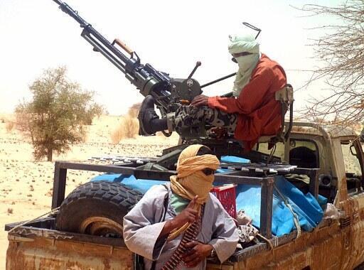 Des islamistes d'Ansar Dine à Tombouctou.