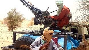 Islamists rebels of Ansar Dine on 24 April, 2012 near Timbuktu