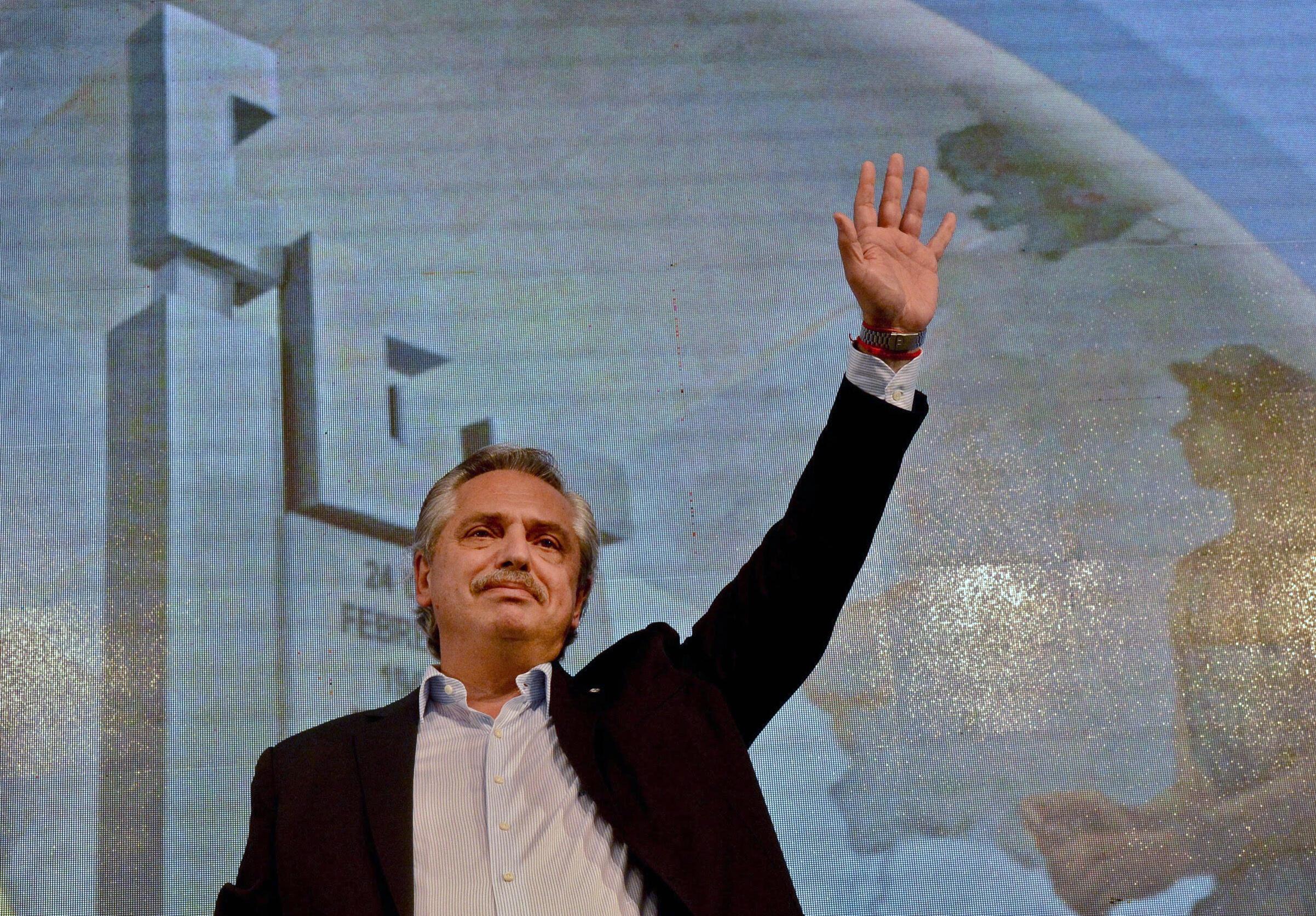 El presidente argentino Alberto Fernández, el 17 de octubre de 2020 en Buenos Aires