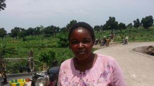 Maman Berthe Matensi, maraîchère, secrétaire du site de Tshwengé-Masina, RDC. « Si 60% des Congolais vivent de la terre, les organisations paysannes regrettent de ne pas avoir été associées à l'élaboration des programmes.»