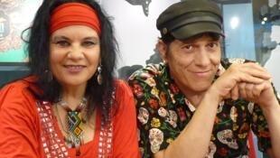 Marucha Castillo y de Napo Romero en los estudios de RFI