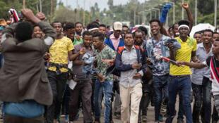 Maandamano jijini Addis Ababa nchini Ethiopia kupinga hali ya hatari nchini humo.
