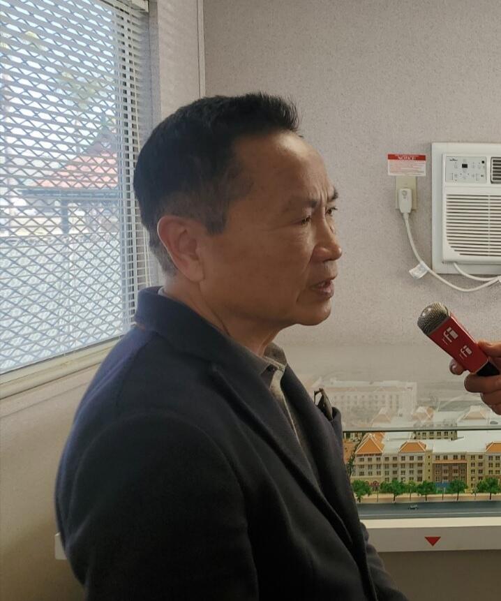 Nhà doanh nghiệp Phạm Hoàng Bắc trả lời RFI Việt ngữ tại Westminster, California , Hoa Kỳ, ngày 06/02/2021.