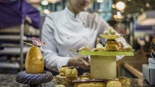 A female pastry chef in Lyon, southeastern France