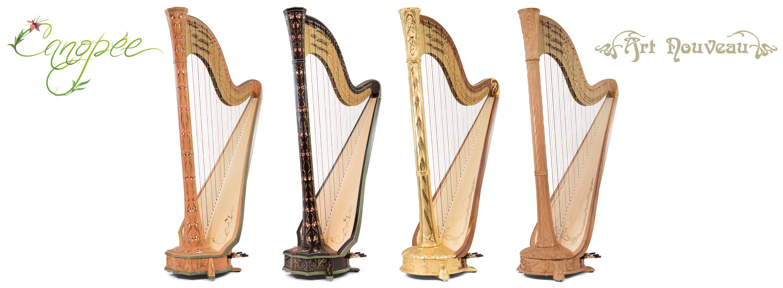 Hạc cầm, hay đàn harpe của nhà sản xuất Camac-Mouzeil.