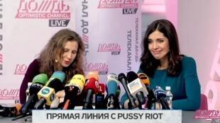 """Мария Алехина и Надежда Толоконникова на """"Дожде"""""""