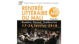 Affiche Rentrée littéraire du Mali 2018.