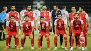 L'équipe de Persepolis lors de la rencontre face au club ouzbek Pakhtakor, le 30 septembre 2020.