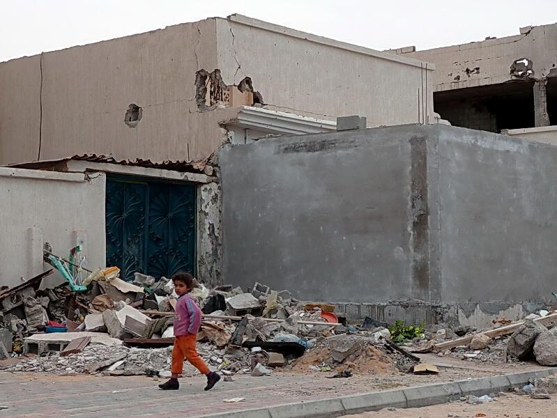Syrte, la ville natale de Mouammar Kadhafi qui se voulait «la capitale de l'Afrique», 15 février 2012.