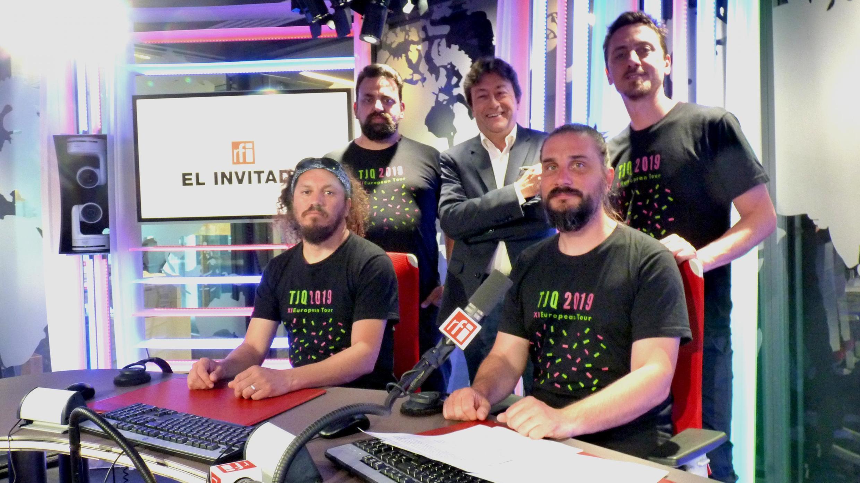 El Tango jazz Quartet  con Jordi Batallé en los estudios de RFI